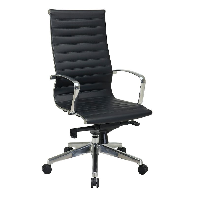 Office Star Products High-Back Eco-Leather Chair