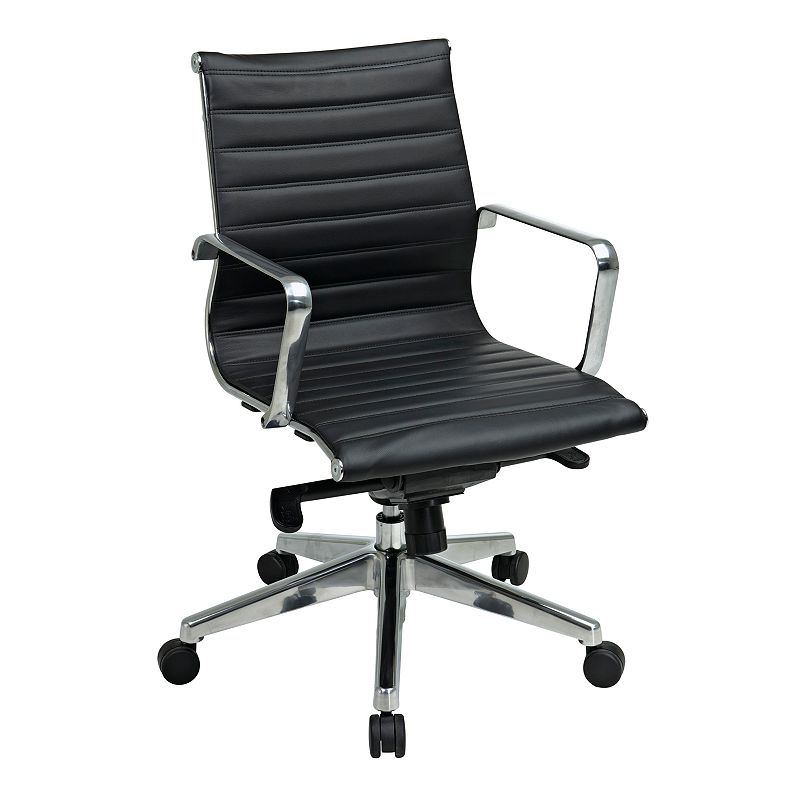Office Star Products Mid-Back Eco-Leather Chair