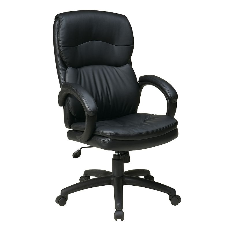 Office Star Products High-Back Eco-Leather Executive Chair