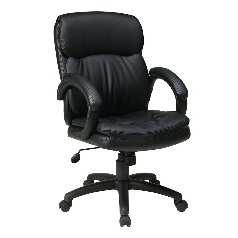 Office Star Products Mid-Back Eco-Leather Executive Chair