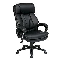Office Star Products Oversized Faux-Leather Executive Chair