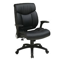 Office Star Products Faux-Leather Manager's Chair