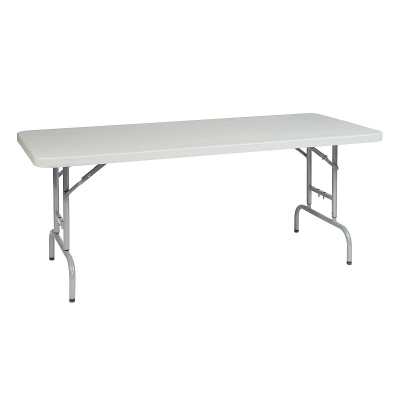 Office Star Products 6-ft. Height-Adjustable Folding Table - Outdoor