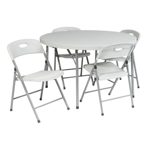 Office Star Products 5-pc. Folding Table and Chairs Set - Outdoor