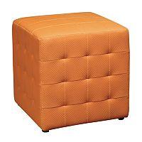 Office Star Products Avenue Six Detour Cube Ottoman