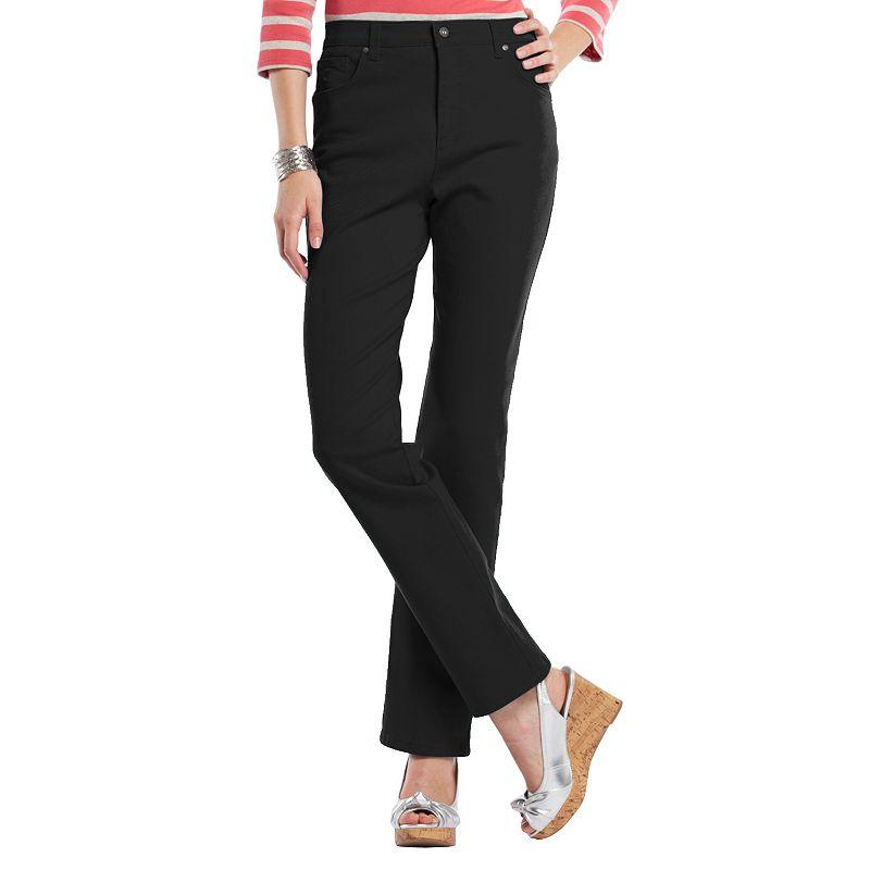 Petite Gloria Vanderbilt Amanda Classic Tapered Jeans, Women's, Size: 8P - SHORT, Black