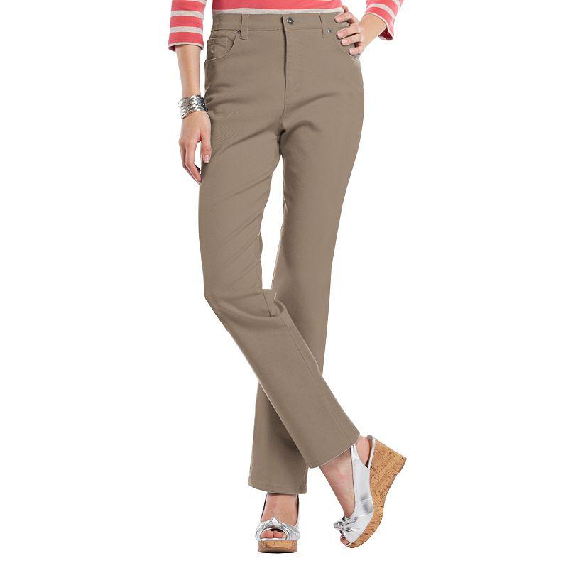 Petite Gloria Vanderbilt Amanda Classic Tapered Jeans, Women's, Size: 12P-SHORT, Latte
