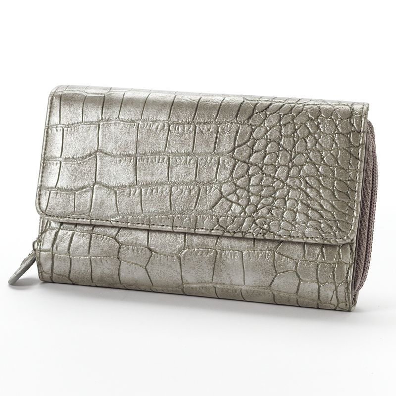 Croft & Barrow® Crocodile Organizer Clutch