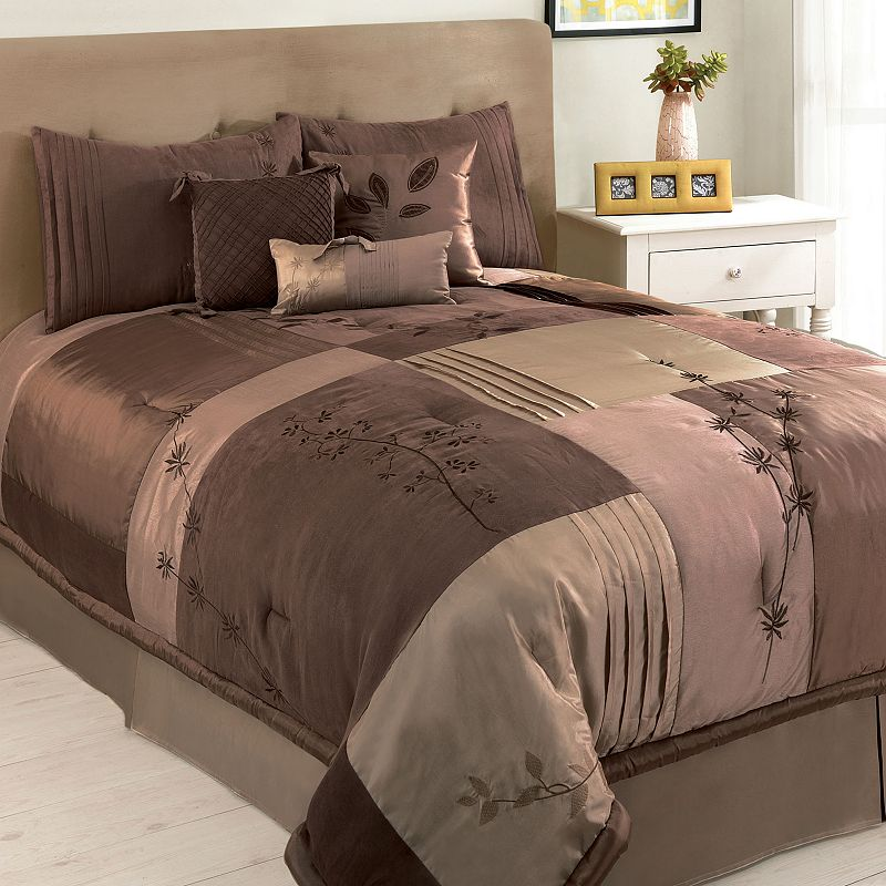 Hudson Street Back To Nature Brown 7-pc. Comforter Set - Queen