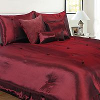 Hudson Street Bohemia Red 7-pc. Comforter Set - Queen