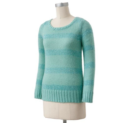 Apt. 9® Lurex Striped Sweater