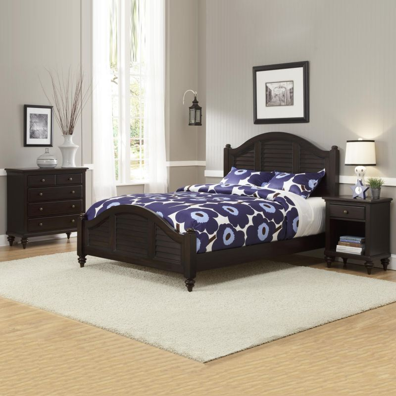 Home Styles Bermuda Espresso Queen Bed, Nightstand and Chest, Brown thumbnail