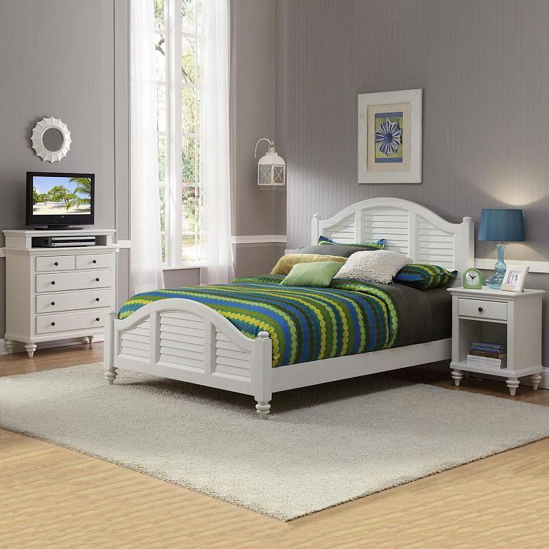 Home Styles Bermuda Queen Bed, Nightstand and Chest