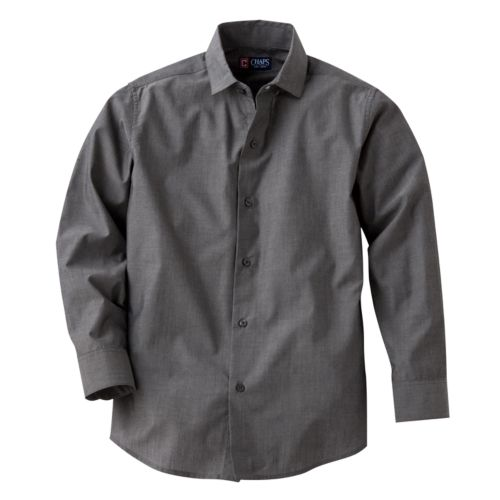 Chaps Iridescent Striped Button-Down Shirt - Boys 8-20