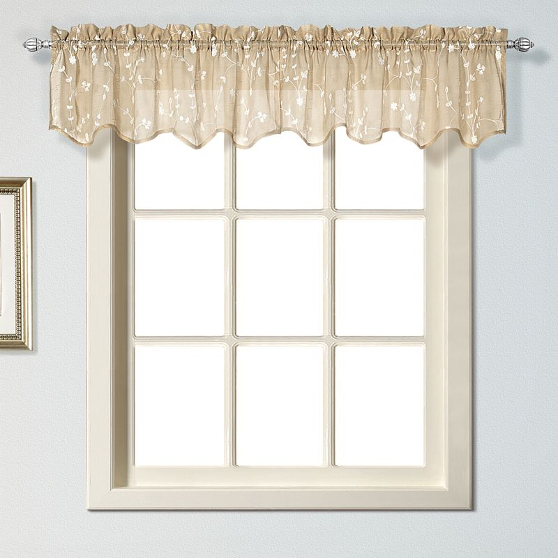United Curtain Co. Savannah Valance - 51'' x 13''