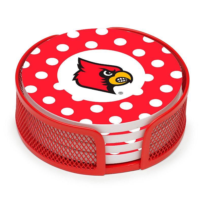 Thirstystone Polka-Dot Louisville Cardinals 4-pc. Coaster Set