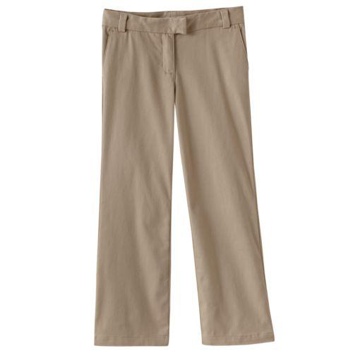 Chaps Stretch Twill Bootcut School Uniform Pants - Girls 4-6x