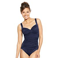 Women's Croft & Barrow® Fit For You Tummy Slimmer One-Piece Swimsuit