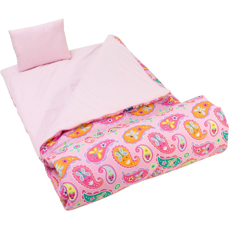 Wildkin Olive Kids Pink Paisley Sleeping Bag - Kids