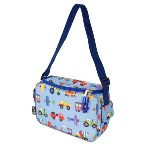 Wildkin Olive Kids Trains, Planes and Trucks Keep It Cooler Lunch Box - Kids