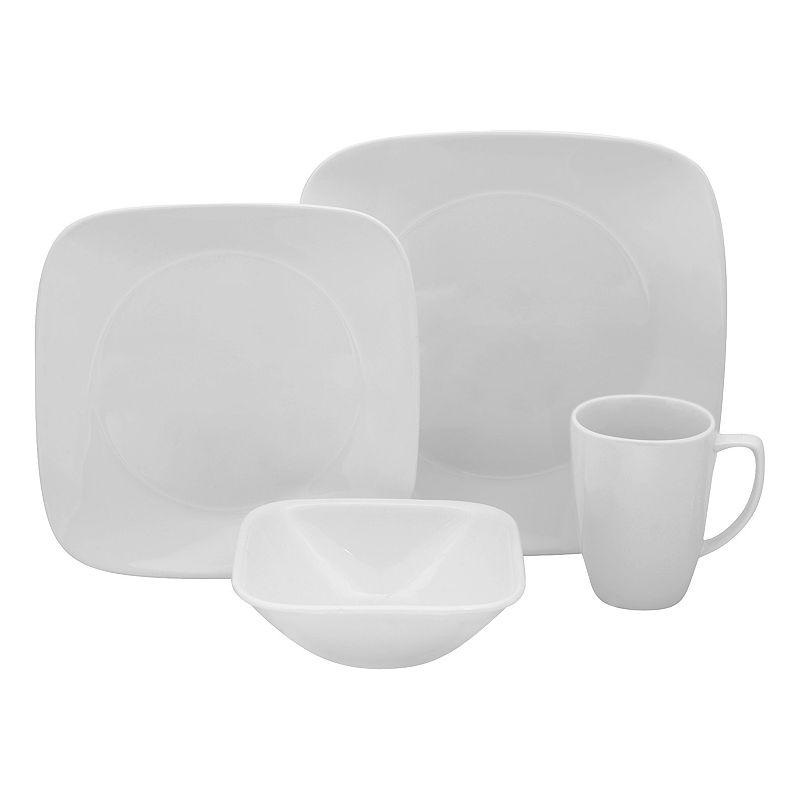 Corelle Lifestyles Vivid White Square 16-pc. Dinnerware Set