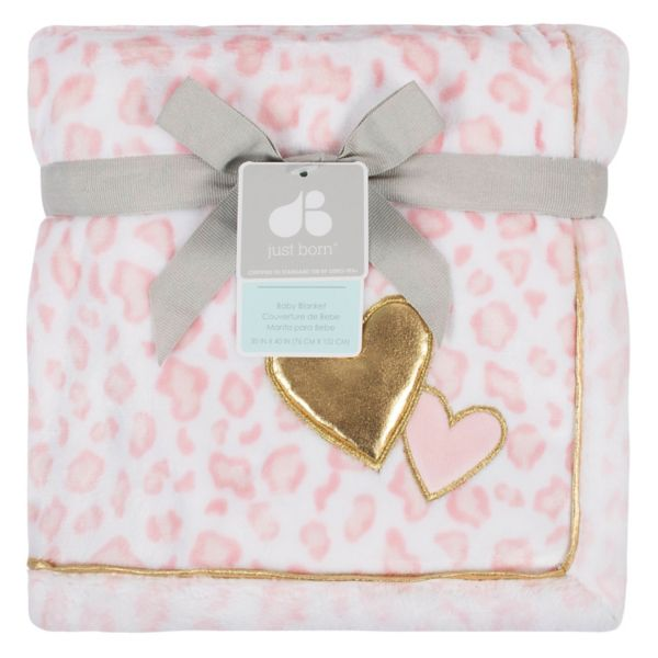 Just Born Pink Cheetah Blanket