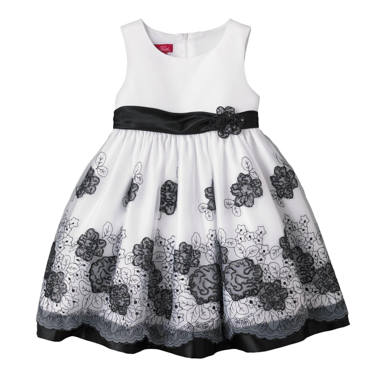 Black And White Toddler Dresses g5b6rOYp