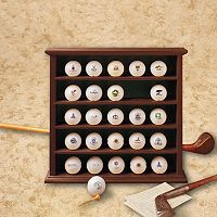 Club Champ Golf Ball Display Cabinet