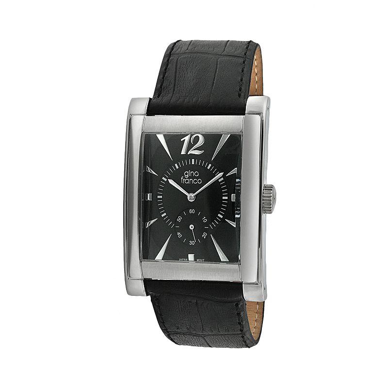 Gino Franco Men's Elegante Leather Watch - 902BK