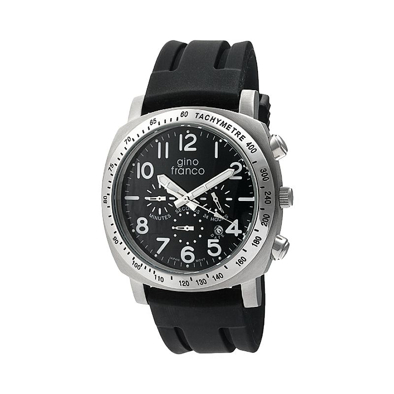 Gino Franco Men's Aria Chronograph Watch - 9610BK-BKL