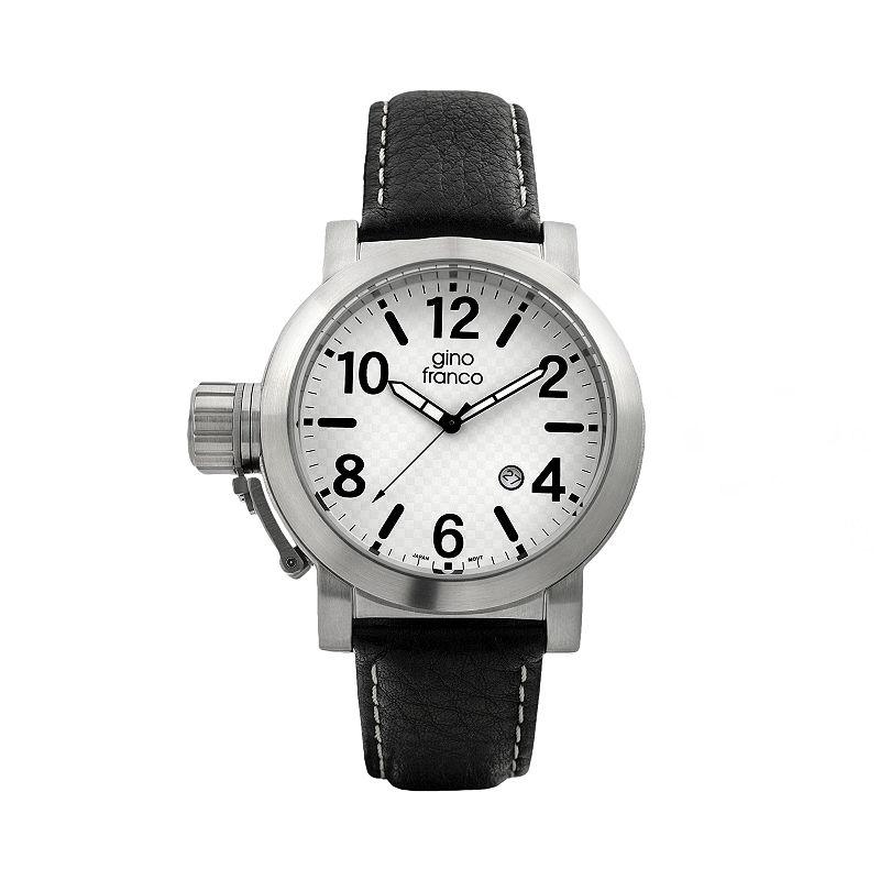 Gino Franco Men's Westside Lefty Leather Watch - 9617WT