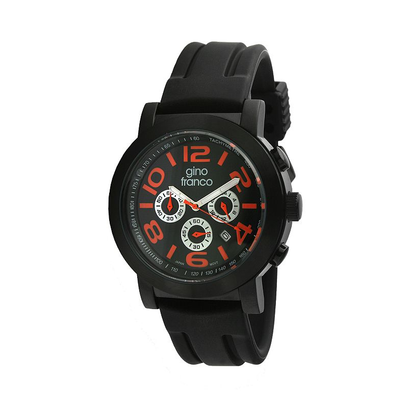 Gino Franco Men's Carbon Chronograph Watch - 9620OR