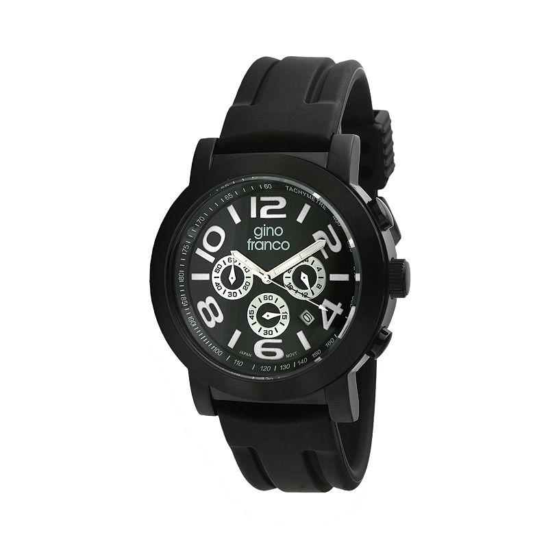Gino Franco Men's Carbon Chronograph Watch - 9620WT