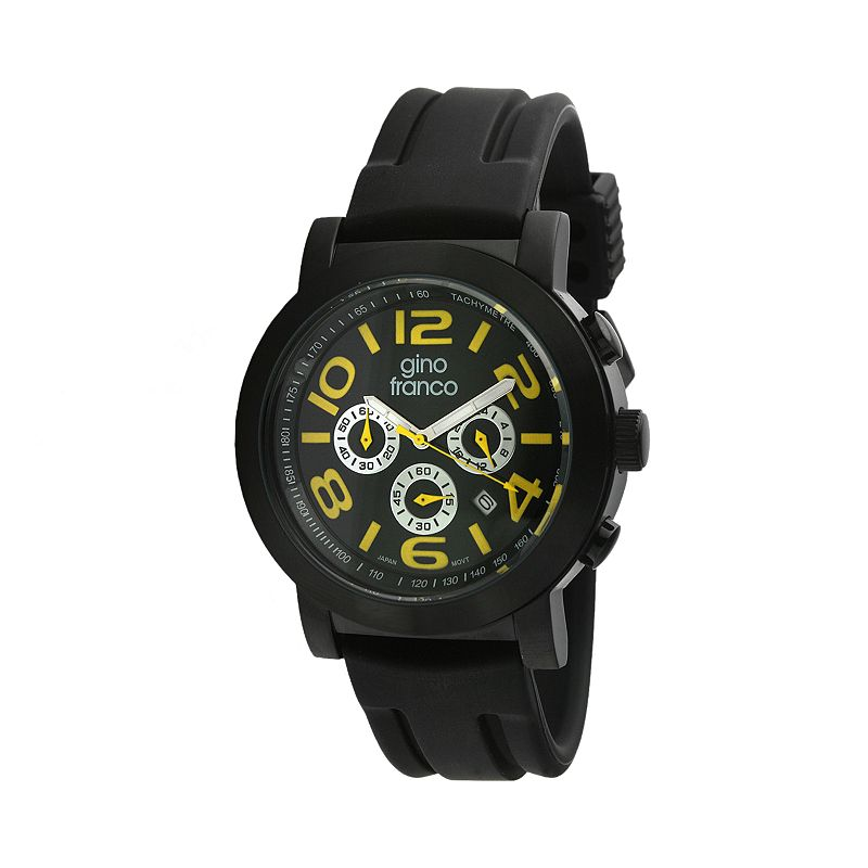 Gino Franco Men's Carbon Chronograph Watch - 9620YL
