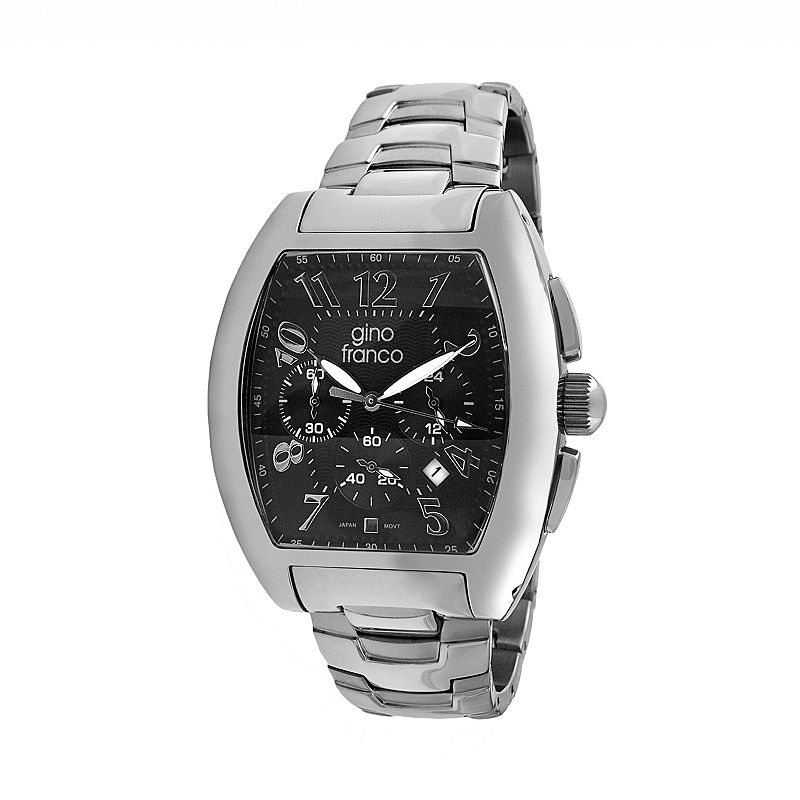 Gino Franco Men's Forum Stainless Steel Chronograph Watch - 9642BK