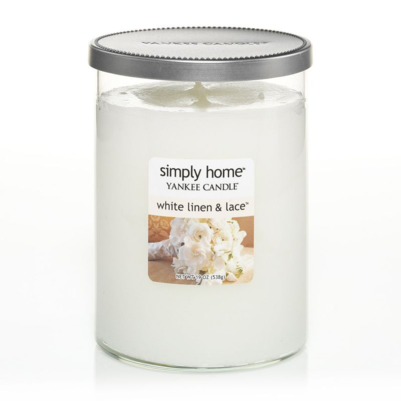 Yankee Candle simply home 17-oz. White Linen and Lace Jar Candle
