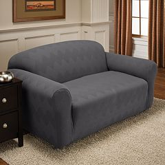 Optics Stretch Loveseat Slipcover by