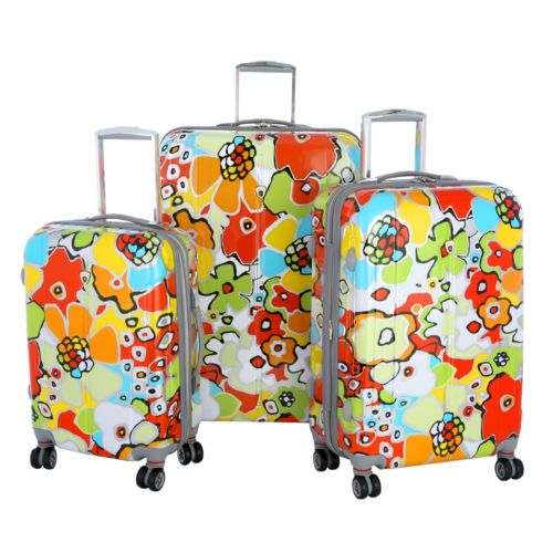 Olympia Luggage, Blossom 3-pc. Expandable Luggage Set