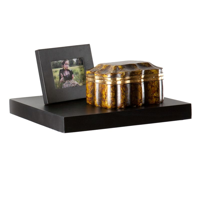 Kaylee 10-in. Floating Shelf, Black