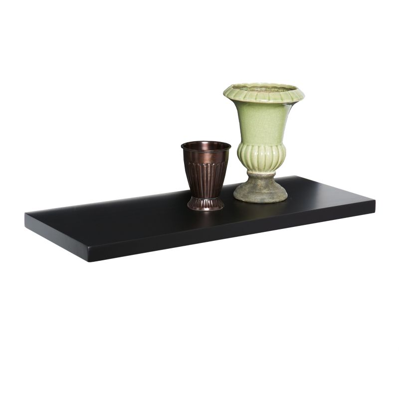 Kaylee 24-in. Floating Shelf, Black