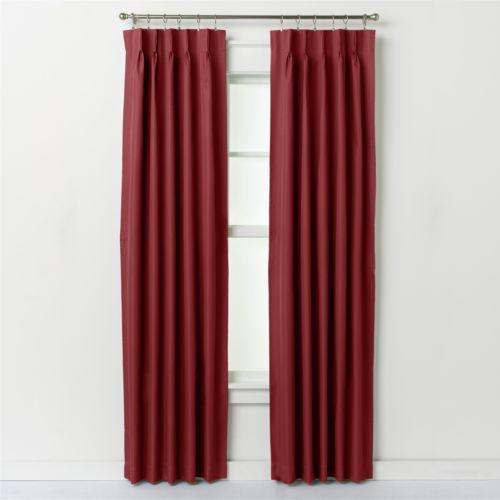 Ellis Curtains Crosby Pinch-Pleat Window Panel Pair - 48'' x 84''