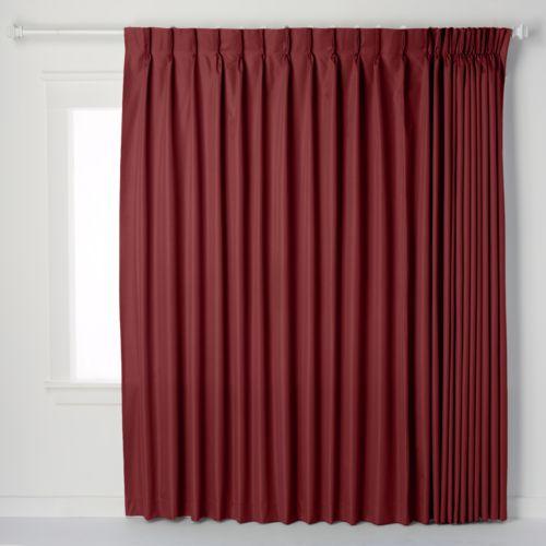 Ellis Curtains Crosby Pinch-Pleat Patio Door Window Panel - 96'' x 84 ...