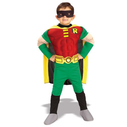 DC Comics Teen Titans Robin Muscle Deluxe Costume - Kids