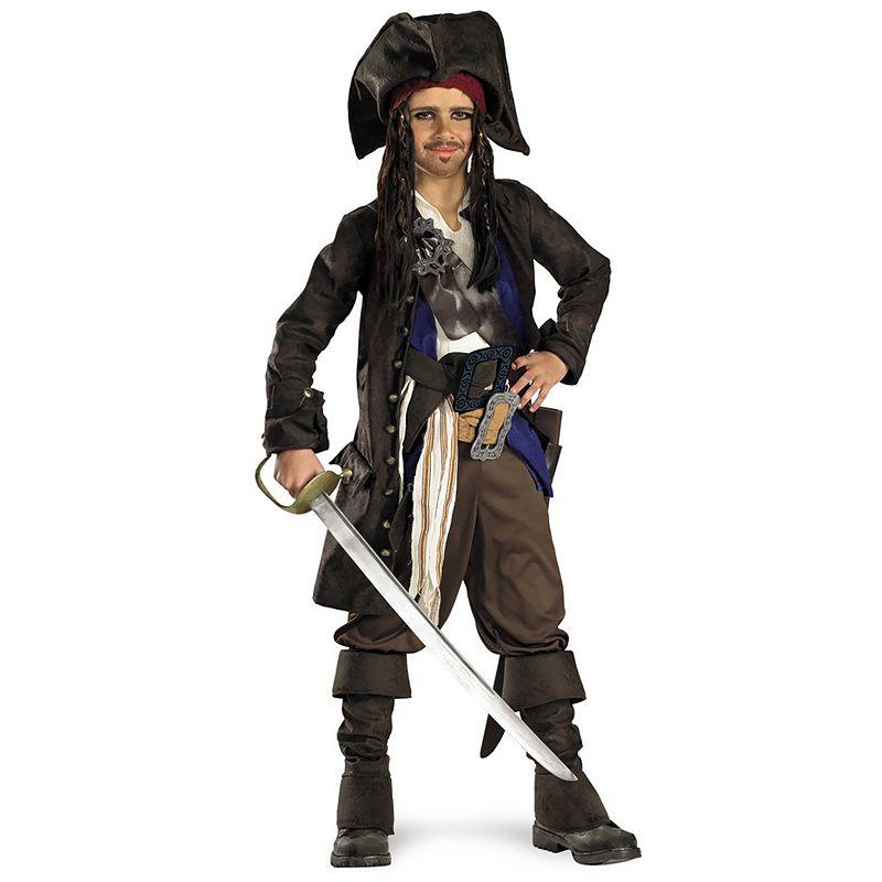 Disney Pirates of the Caribbean Captain Jack Sparrow Prestige Costume