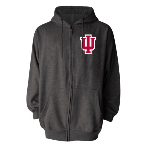 Men's Indiana Hoosiers Full-Zip Fleece Hoodie