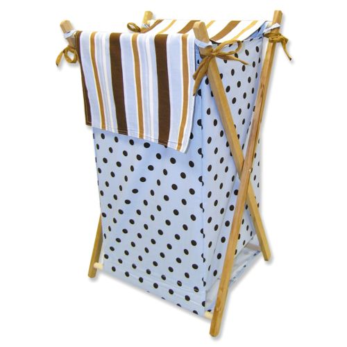 Trend Lab Max Polka-Dot Striped Hamper
