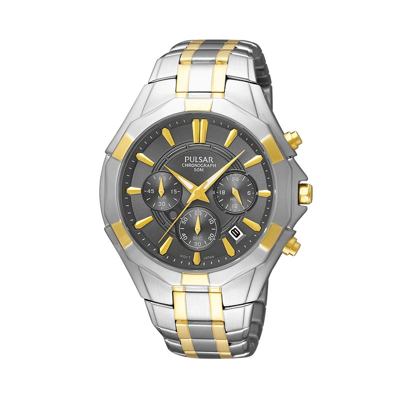 Pulsar Men's Two Tone Chronograph Watch - PT3200