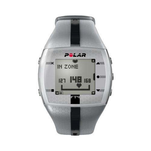 Polar Watch Set - Men's FT4 Gray Resin Digital Heart Rate Monitor Sport
