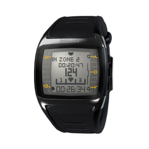 Polar Watch Set - Men's FT60 Black Resin Digital Heart Rate Monitor Sport