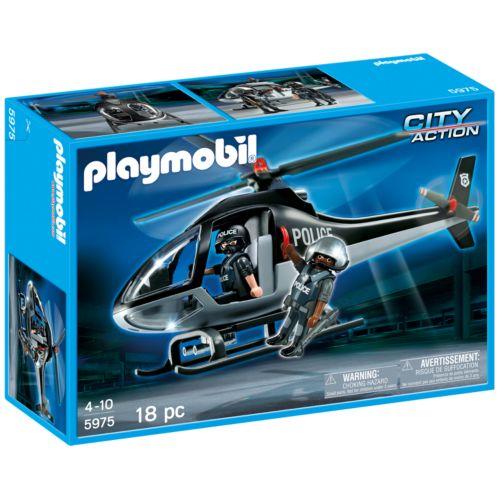 Playmobil Tactical Unit Copter Playset - 5975